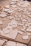 Reconstruction of Tiles at Archeological Site in Turkey Stock Photography