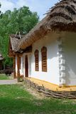 Reconstruction of a traditional farmer's house in open air museum, Ukraine. Reconstruction of a traditional farmer's house in open air museum, Kiev Royalty Free Stock Photo
