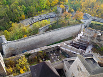 Reconstruction of Trencin castle royalty free stock images
