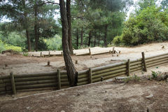 Reconstruction of Turkish trenches Royalty Free Stock Image
