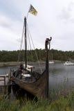 Reconstruction of the viking ship Sigrid Storrada Royalty Free Stock Photo