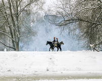 The reconstruction of the war of 1812 in the Ekateringof Park in Stock Photography