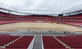 Reconstruction works at the Emirates stadium Stock Photography
