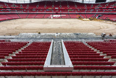 Reconstruction works at the Emirates stadium Royalty Free Stock Image