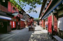 Edo period red light district Yoshiwara street, Japan Stock Photography