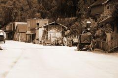 Reconstructions retro western city Stock Photos