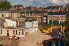 The reconstructions and rooftops of the city of York Stock Image
