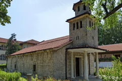 Reconstructive Bulgarian orthodox church in the active Batkun Monastery Royalty Free Stock Photo