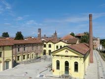 Reconversione industriale - una vecchia fabbrica del mattone ha convertito in a Immagine Stock Libera da Diritti