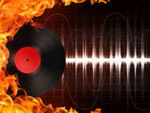 Record. In Fire. Computer Graphics. Design Element Stock Photography