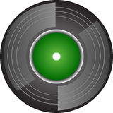 Record. This is a record, perhaps for musical web site, DJ marketing, retro advertising Royalty Free Stock Images
