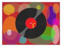 Record. Stylish vinyl record on a beautiful background Stock Photo