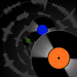 Record. A vector record black and white Stock Images