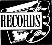 record illustrazione vettoriale