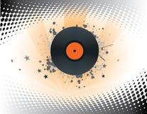 Record. Stylish music illustration on white royalty free illustration