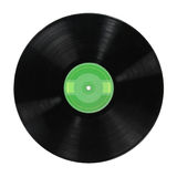 Record Album Over White Background Stock Image