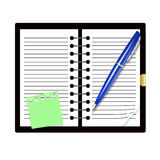 Record book and pen Stock Photography