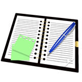 Record book and pen Stock Photo