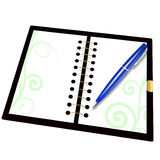 Record book and pen Stock Images