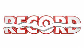 Record Breaker Top Score Best Result Word royalty free illustration