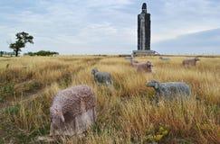 Record-breaking statue Sheep shepherd of Frumushika-Nova, Ukraine. Ethnographic monument `Sheep shepherd of Frumushika-Nova` - the world's tallest statue of Royalty Free Stock Image