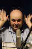 Record at broadcasting station Royalty Free Stock Photo