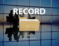 Record Confidential Privacy Information Data Concept Royalty Free Stock Photos