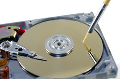 Record of data. Symbolic record of data on hard disc Royalty Free Stock Photography