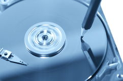 Record of data. Symbolic record of data on hard disc Royalty Free Stock Photo