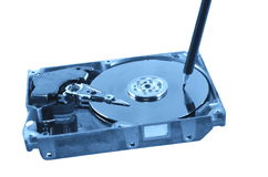 Record of data. Symbolic record of data on hard disc Royalty Free Stock Images