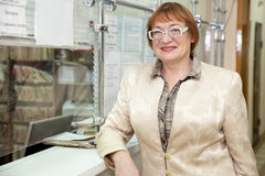 Record del paziente attendente della donna fotografia stock libera da diritti