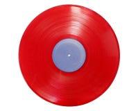 Record di colore rosso su bianco Fotografia Stock Libera da Diritti