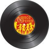 Record di vinile con febbre della discoteca Fotografie Stock