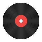 Record di vinile con il contrassegno rosso Immagine Stock Libera da Diritti