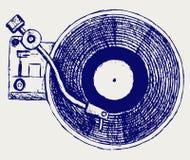 Record di vinile del giradischi illustrazione di stock
