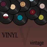 Record di vinile Illustrazione di musica per una cartolina o un manifesto vin Fotografia Stock Libera da Diritti