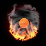 Record in Fire. Vector illustration Royalty Free Stock Photo