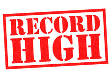 RECORD HIGH Stock Images