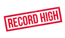 Record High Rubber Stamp Royalty Free Stock Photos