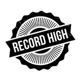 Record High Rubber Stamp Royalty Free Stock Image