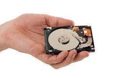 Record information on the hard disk Stock Image