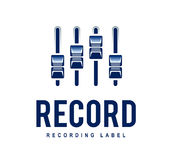 Record Logo Stock Photo