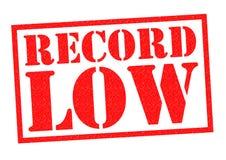 RECORD LOW Stock Photo