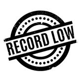 Record Low rubber stamp Stock Images