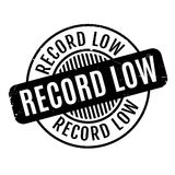 Record Low rubber stamp Stock Image