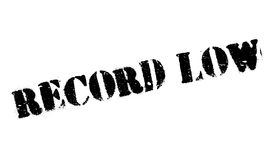 Record Low rubber stamp Royalty Free Stock Photography