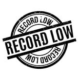 Record Low rubber stamp Stock Photo