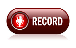 Record microphone vector button Royalty Free Stock Photos