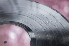 Record. Old music record disc he Stock Photos