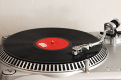 Record player. Vinyl record on a turntable Royalty Free Stock Photos